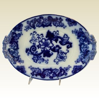 Flo Blue Large Antique Platter