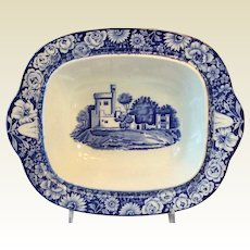 Enoch Woods Blue & White Blackrock Castle Serving Bowl