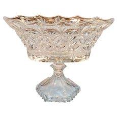 English Glass Banana Bowl