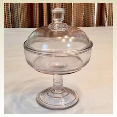 Covered Small Glass Compote