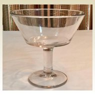 Antique Clear Glass Open Compote