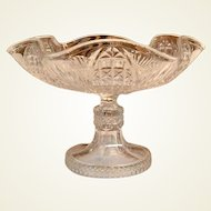 EAPG Wavy Footed Glass Bowl