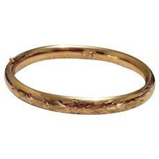 Rine Hinged Bangle Bracelet 12K Gold Filled