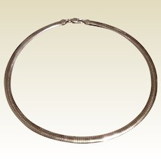 6 MM Sterling Flexible Collar Necklace