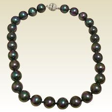 Faux Black Tahitian Pearl Necklace
