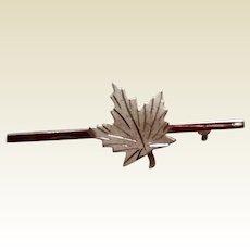 Canadian Sterling Silver Maple Leaf Brooch