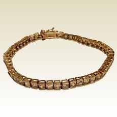 Vermeil Faux Diamond Line Bracelet Tennis