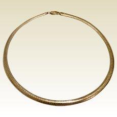 Vermeil Italian Flexible Collar Necklace
