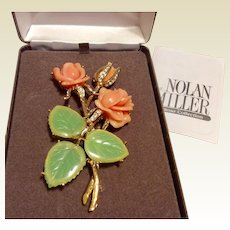 Nolan Miller Ann-Margaret Rose Brooch Original Box