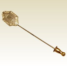 12 K Gold Filled Stick Pin