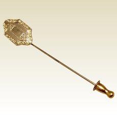 12 K Gold Filled Stick Pin