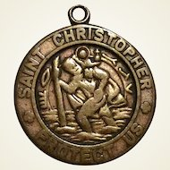 Saint Christopher Medal Bronze Or Copper Color