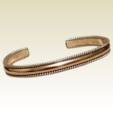 12K Gold Filled Sterling Bracelet Cuff