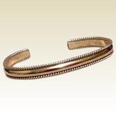 12K Gold Filled Sterling Bracelet Cuff