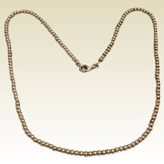 """Sterling Silver 3MM Bead Necklace 18"""" Italy"""