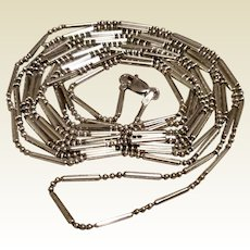 """60"""" Italian Sterling Silver Necklace"""