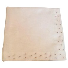 White Hankie Gold Embroidery