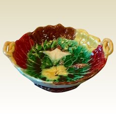 Majolica Morning Glory Compote