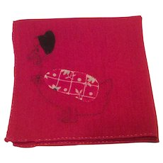 Red Cotton Hen Hankie