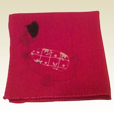 Red Cotton Hen Hankie