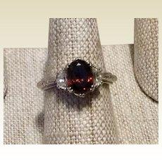 Tacori Sterling Silver Citrine CZ Designer Ring Size 7