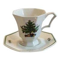 Nikko Christmastime Footed Tea/Coffee Cup & Saucer