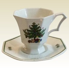Nikko Christmastime Footed Tea/Coffee Cup & Saucer