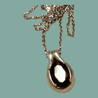Smokey Quartz Sterling Silver Pendant Necklace
