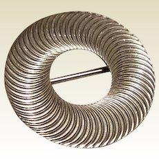 Beau Sterling Silver Circle Brooch