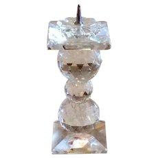 "Retired Swarvoski 4"" Crystal Pin Candleholder"