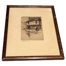 The Old Curiosity Shop Signed Etching