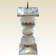 "Retired Swarvoski 5 3/4"" Crystal Pin Candleholder"