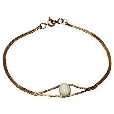 """Vintage 14K Gold Filled Opal Bracelet 6 1/2"""""""