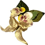 Vintage Pansy Millinery Flower Spray