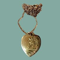 Gold Filled Double Photo Heart Locke t