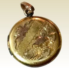 Vintage Silver Gilt Double Photo Locket