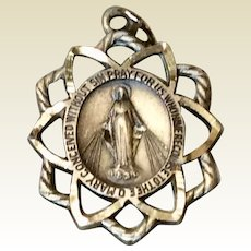 Vintage Regina Sterling Silver Miraculous Medal