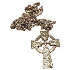 Sterling Silver Irish Celtic Cross & Chain
