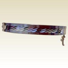 Vintage Western Germany Silver Tone Metal Bangle Bracelet