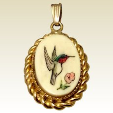 Winard 12K Gold Filled Winard Hummingbird Pendant