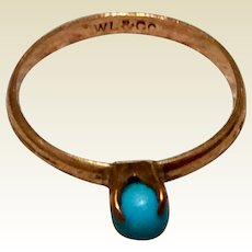 Vintage Gold Filled Turquoise Child's Ring