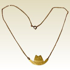Vintage Carl Art 14K Gold Filled Cowboy Hat Necklace