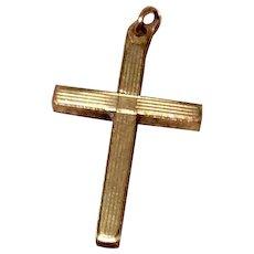 Vintage Carl Art 12K Gold Filled Cross