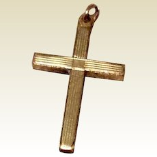 Vintage Carl Art 12K Gold Filled Cross