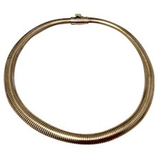 Vintage 12K Gold Filled Flexible Choker Necklace