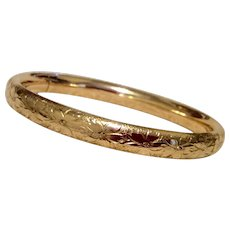 Vintage 12K Gold Filled Coro Hinged Bangle Bracelet