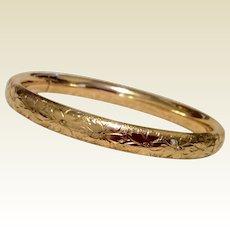 Vintage 12K Gold Filled Coro Hinged Bangle Bracelet