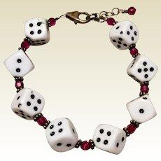 Vintage Handmade Funky Dice Bracelet