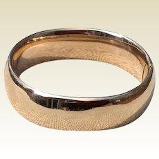 Classic Vintage FMCo 12K Gold Filled Hinged Bangle Bracelet