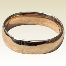 Classic Vintage FMCo 12K Gold Filled Hinged Bangle Bracelet